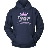Princesses Are Born In January T-Shirts