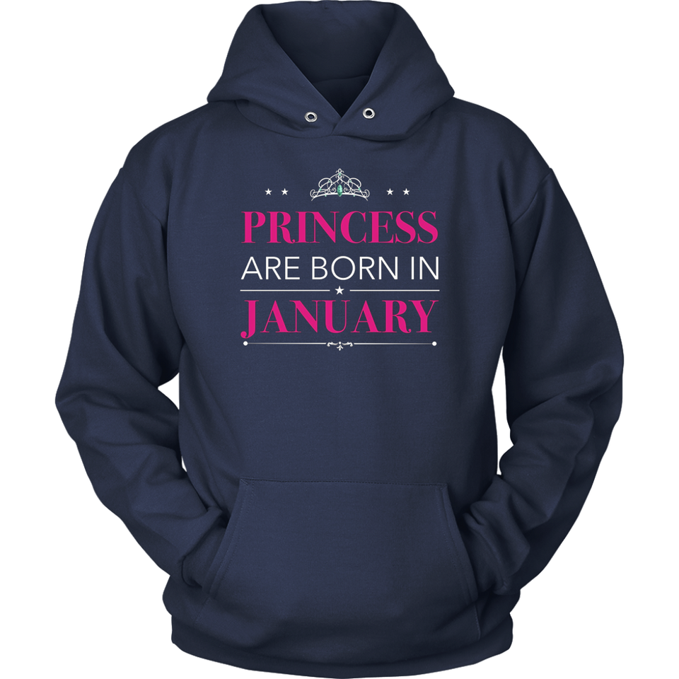 Princesses Are Born In January T-Shirt