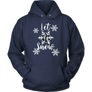 Let It Snow T-Shirt Christmas Holiday Snowman T-Shirt