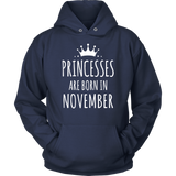 Princesses Are Born In November T-Shirt