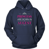 Princesses Are Born In August T-Shirt