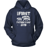 first Fathers day Dad And baby bear, Cute Gift for new Papa T-Shirt
