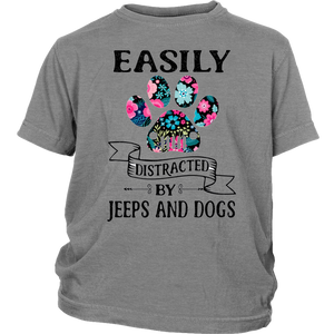 Easily Distracteds By Jeeps And Dogs T-shirt