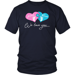 Pink or Blue Daddy Loves You T-shirt For Dad