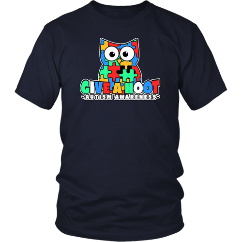 Autism Owl Autism Awareness Shirt Give a hoot