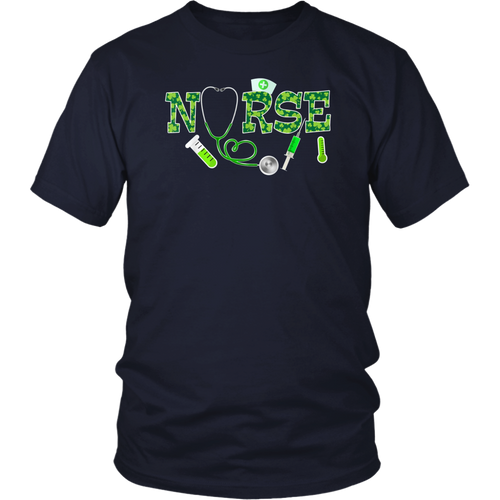 Nurse Shamrock Stethoscope St Patrick's Day 2021 T-Shirt
