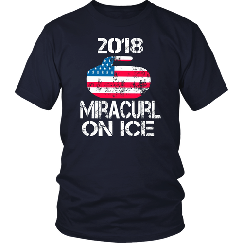 Curling Miracurl On Ice T-shirt Best Sports Celebration Tee