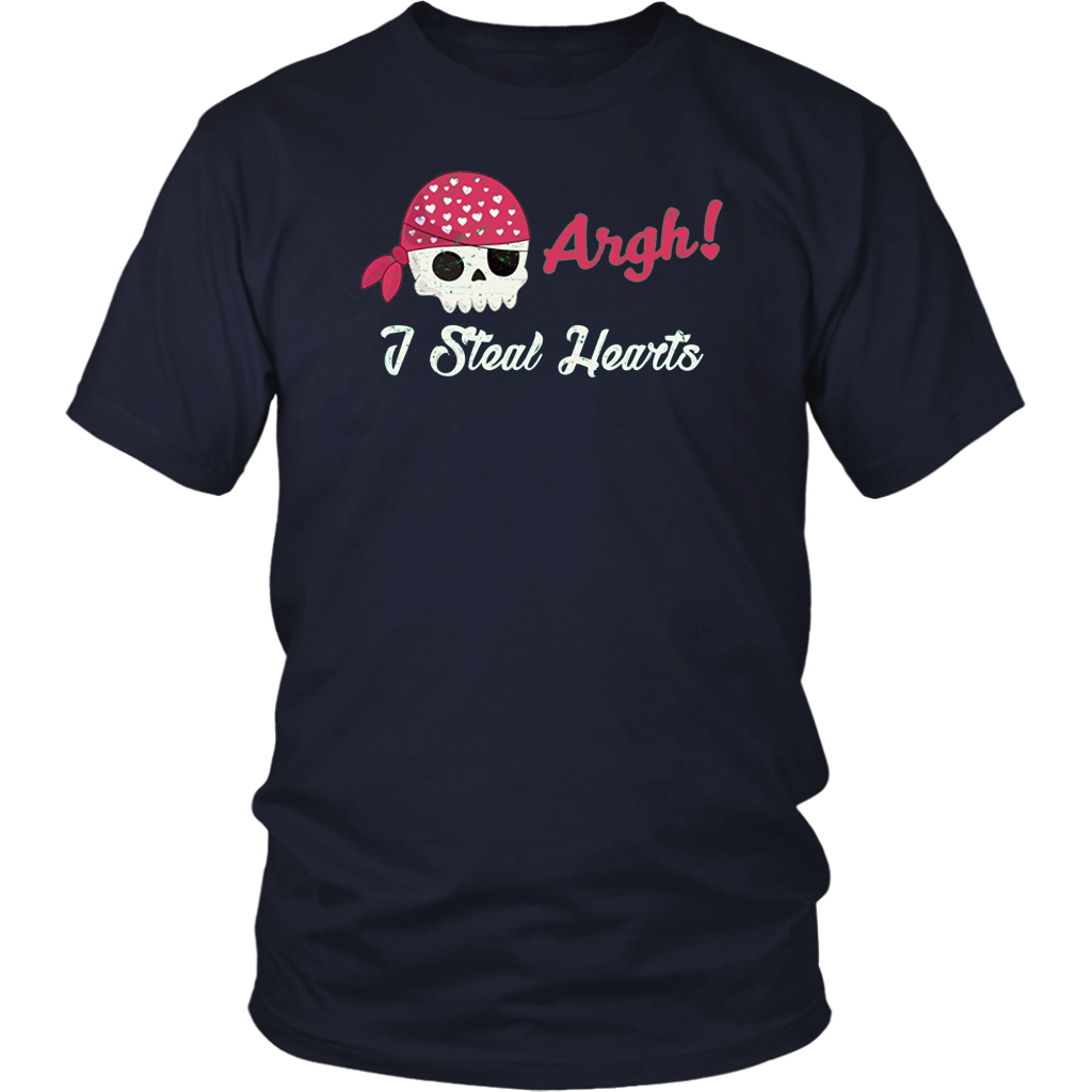 Argh I Steal Hearts Shirt Pirate Shirt for Kids Valentine
