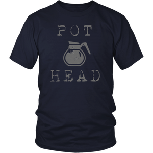 Pot Head | Funny Caffeine Addict Drip Coffee T-Shirt