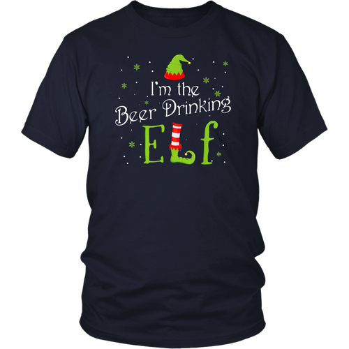I'm The Beer Drinking Elf Christmas Shirt