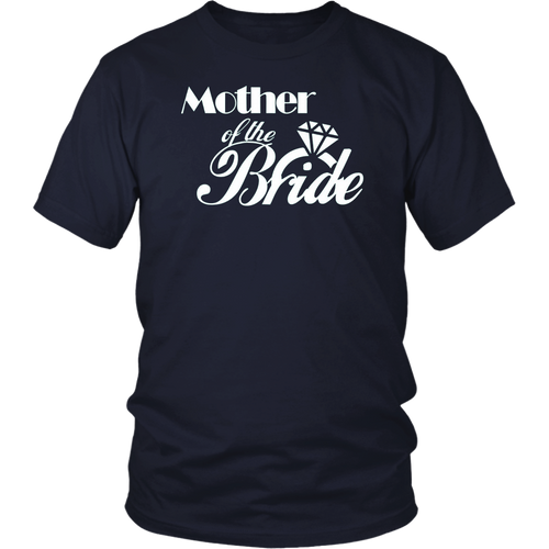 Womens Bridal Party Shirts Mother Of The Bride Diamond Navy Blue