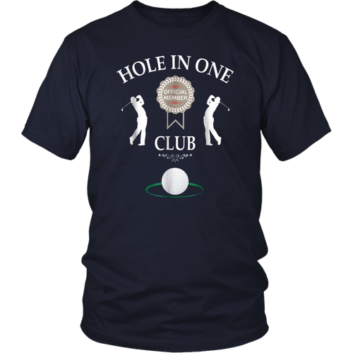 Hole In One Club Funny Mens Golf Humor T-Shirt
