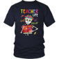 Teacher Life Got Me Feeling Un Poco Loco Skull Skeleton T-Shirt