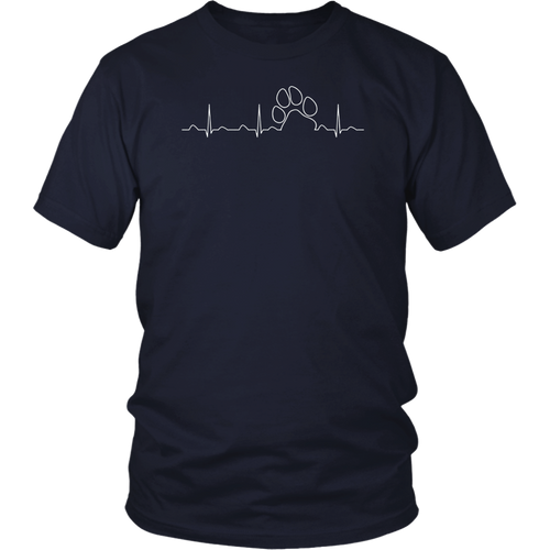 Paw Print Heartbeat Veterinarian Vet Tech T-Shirt