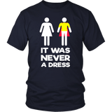 It Was Never A Dress Superhero Mom Daughter Tshirt