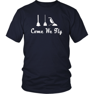 Come we fly Brooms Halloween T shirt Funny Halloween Tees