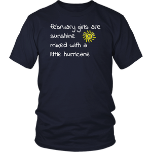 February Girls Are Sunshine February Birthday Shirts For Wom