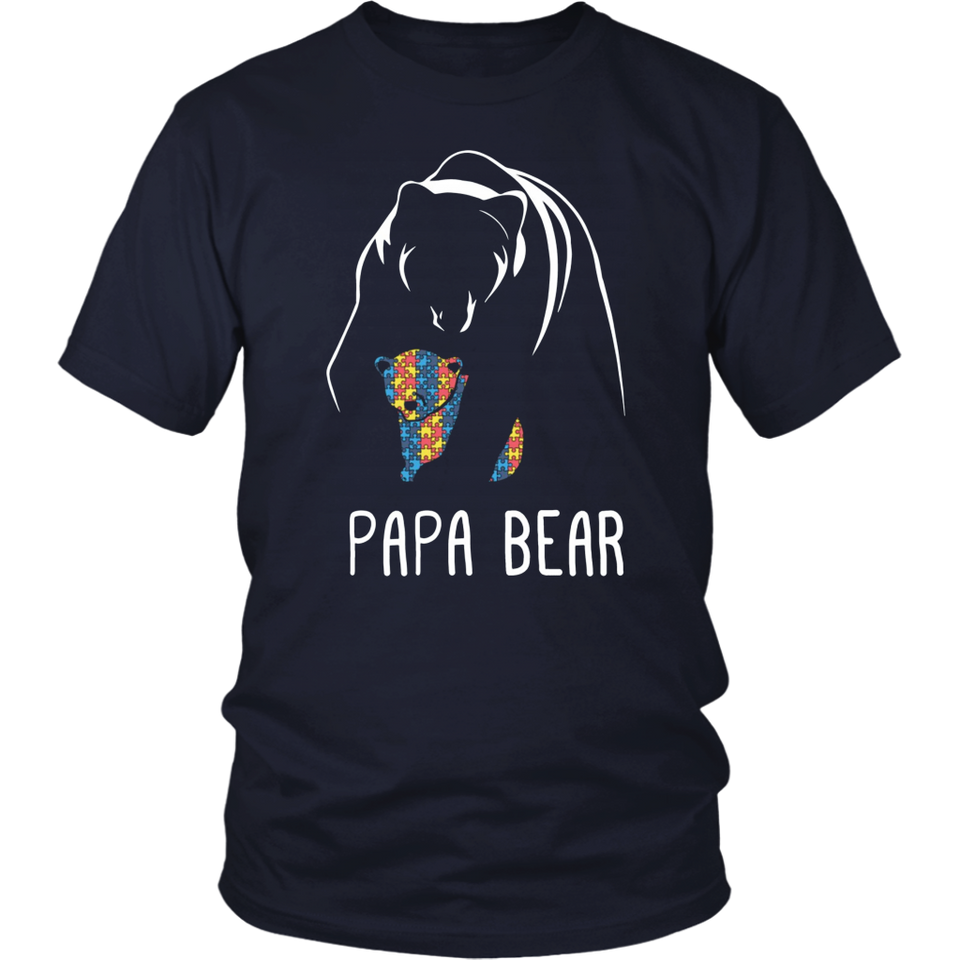 Papa Bear Autism Awareness Tshirt