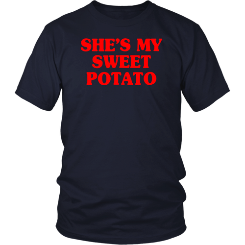 Shes My Sweet Potato Shirt I Yam Matching Couple Halloween T-Shirt