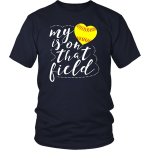 My Heart is on that Field Softball Shirt Funny Softball Mom