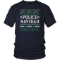 Police Navidad Ugly Christmas Sweater Design T-Shirt