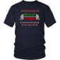 Merry Liftmas: Ugly sweater Christmas kettlebell T-shirt