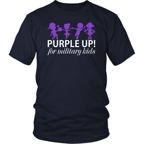 purple up shirt