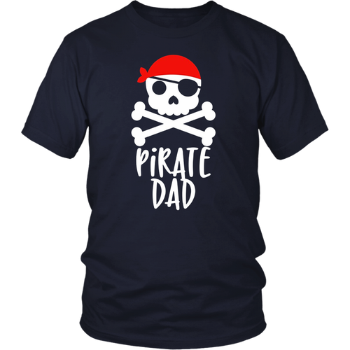 Pirate Dad Family Jolly Roger Skull T-Shirt