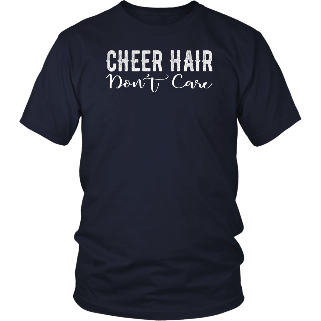 Cheer Hair Don't Care T-Shirt