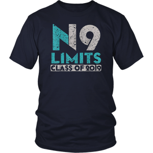 No Limits Class of 2019 - High School Graduation T Shirt