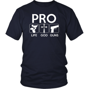 Conservative Republican Pro Life God Guns T-Shirt