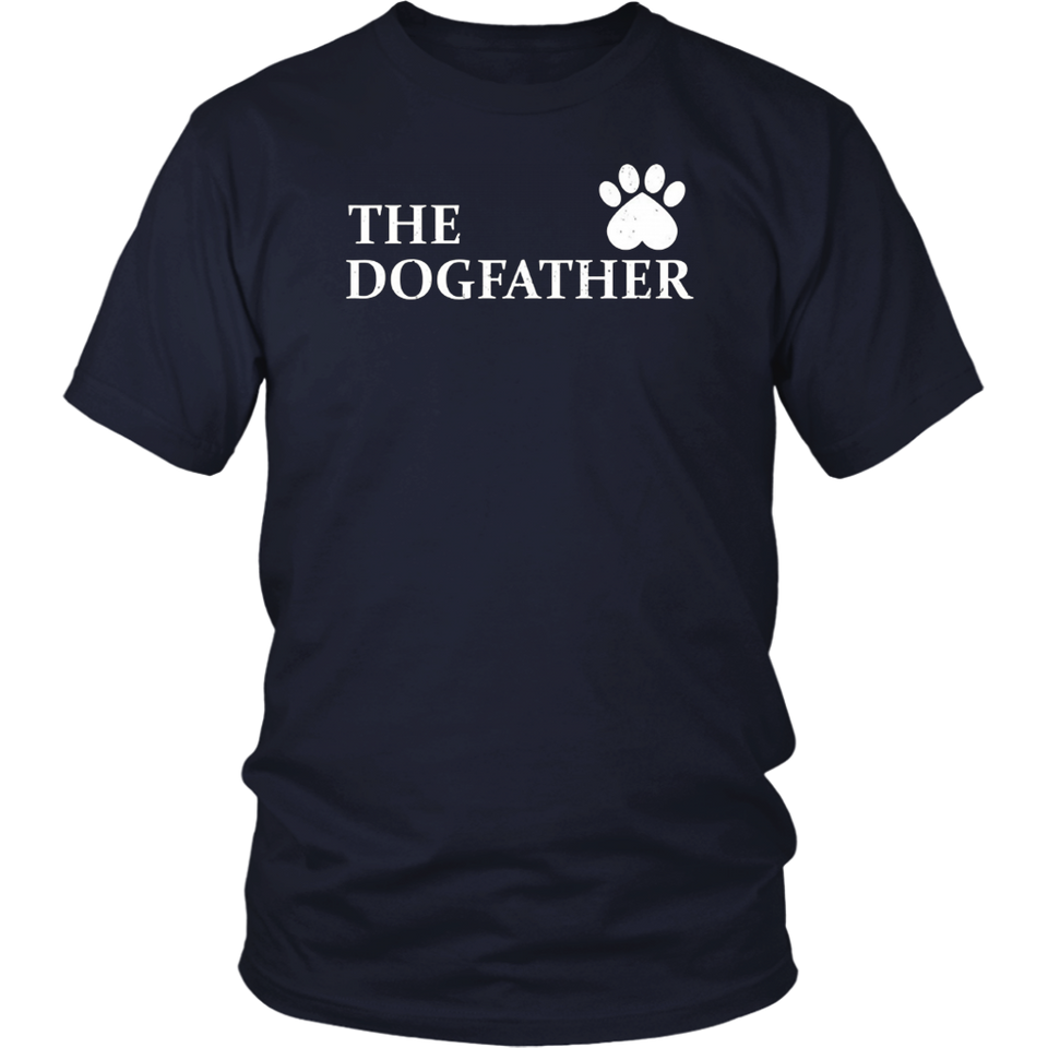 The Dogfather Pit bull T-Shirt Funny Father Dog Lover Shirt