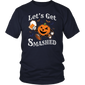 LET'S GET SMASHED Halloween Drinking Pumpkin Boos Shirt