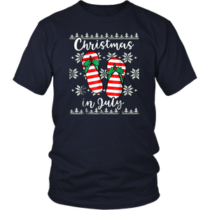 Christmas In July Funny Santa Cocktail TShirt