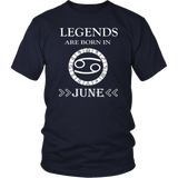 Legends are born in June T-Shirt birthday shirt