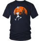 Halloween Pumpkin Skeleton Volleyball Dabbing Shirt