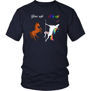 Your Wife vs My Wife Unicorn T-shirts
