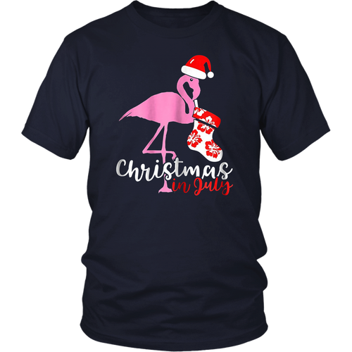 Christmas In July Funny Santa Cocktail T-Shirt
