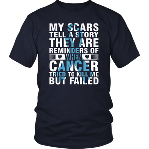 My scars tell a story - Multiple Myeloma Awareness Shirt
