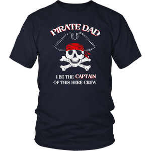 Captain Dad Pirate T-shirt For Daddy