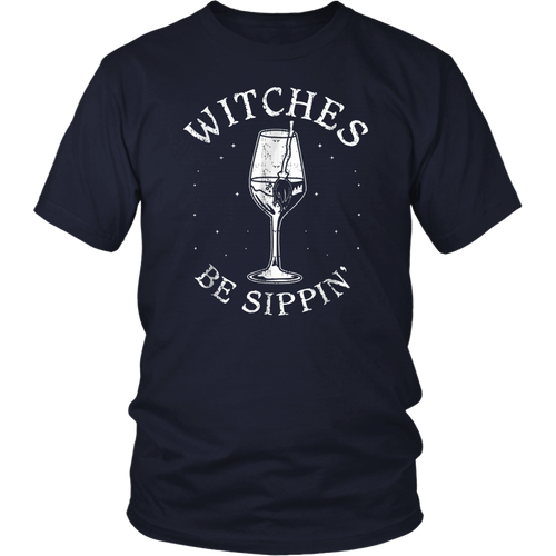 Witches Be Sippin Funny Halloween Drinking TShirt