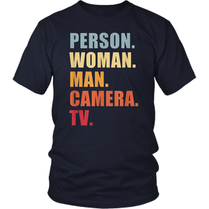 Person Woman Man Camera TV TShirt