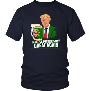 Make St patricks day great again Trump Shirt