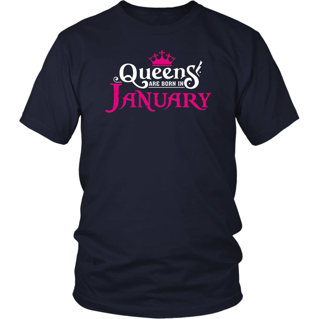 Queens Are Born In January Shirt