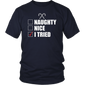 Nice Naughty I Tried Shirt Humor Christmas T-Shirt Xmas Tee