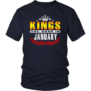 Kings Are Born In January T-shirt