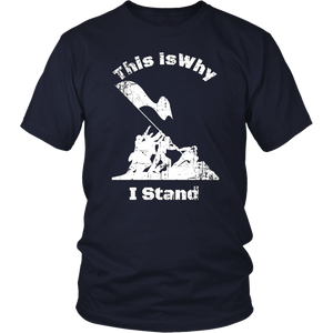 This Is Why I Stand Veteran I Dont Kneel Tshirt