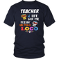 Teacher Life Got Me Feelin Un Poco Loco Skeleton T-shirt