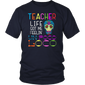 Teacher Life Got Me Feeling Un Poco Loco Skull T-Shirt