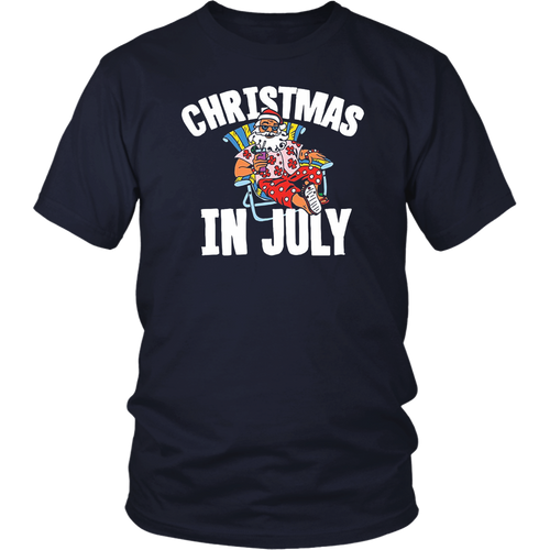 Christmas In July Funny Santa Cocktail T Shirt